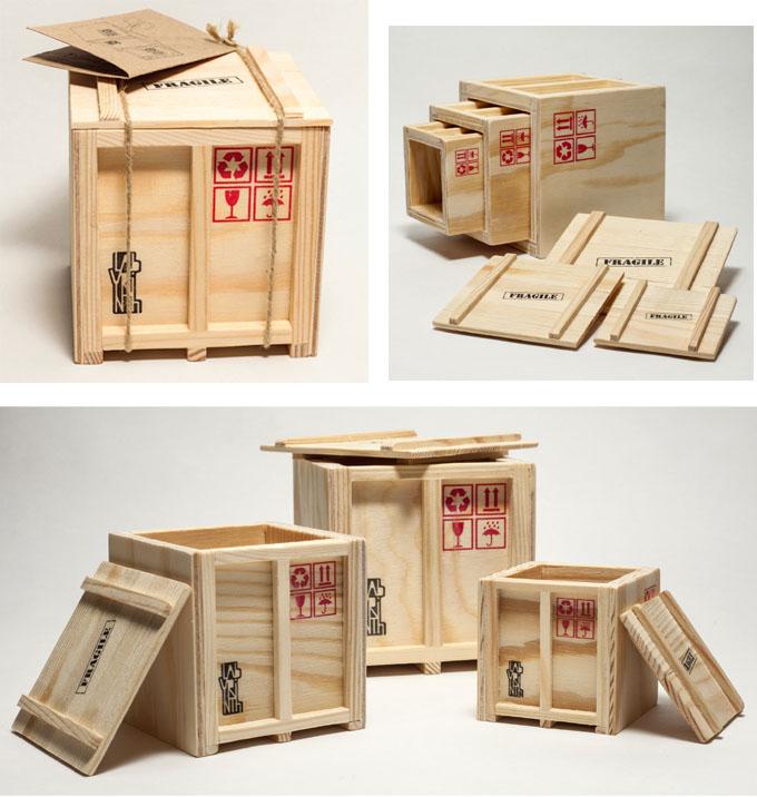 Cajas container escritorio inbox