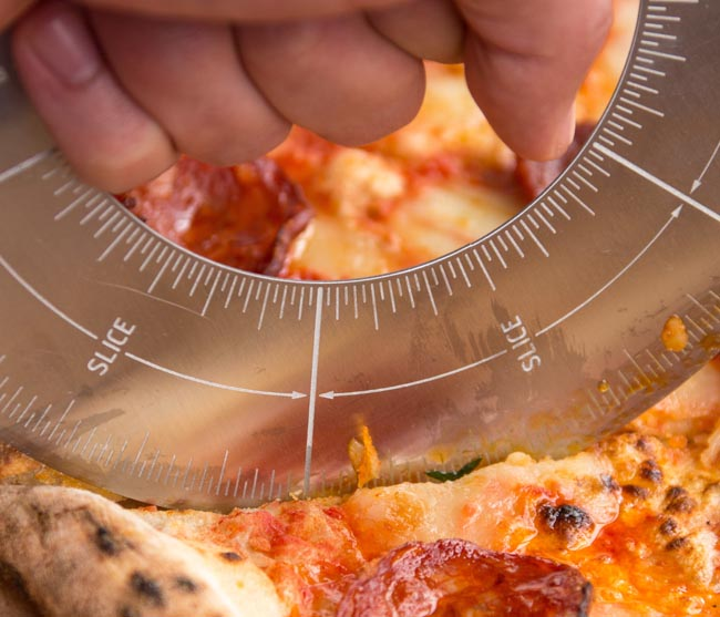 Cortador pizza protractor