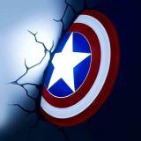 Lámpara de pared Escudo del Capitán América, de Marvel