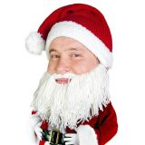 Gorro con barba Papá Noel estilo vikingo