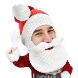 Gorro de Papá Noel con barba y bigote