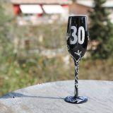 Copa de Champagne negra 30