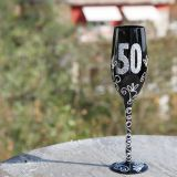 Copa de Champagne negra 50