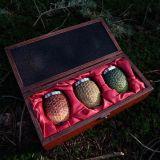 Set de 3 vasos de chupito premium Huevos de Dragón de Juego de Tronos