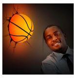 Lámpara ambiental 3D Balón de Baloncesto