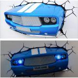 Lámpara ambiental 3D Coche clásico azul