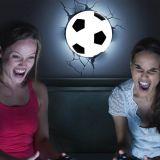 Lámpara ambiental 3D Balón de Fútbol