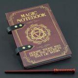 Libreta mágica con lápiz en forma de varita mágica