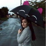 Paraguas Gato negro Kawaii