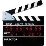 Reloj Despertador Claqueta de Cine