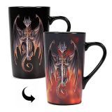Taza latte termosensible Anne Stokes Dragon Warrior