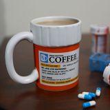 Taza frasco de pastillas, COFFEE