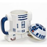 Taza con tapa R2-D2, de cerámica