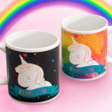 "Taza Unicornio cambia de color ""Believe in magic"""