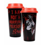 "Taza de viaje ""I am not a morning person"" de Resident Evil"