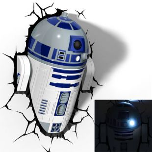Lámpara ambiental 3D R2-D2