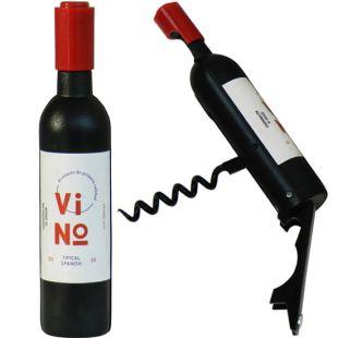 Abrebotellas botella de vino, imán de nevera
