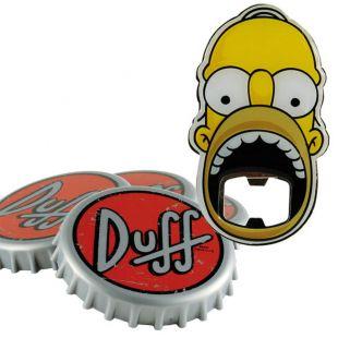 Posavasos Duff Beer (4)  y abridor Homer