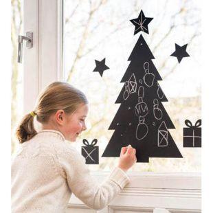 Pizarra adhesiva árbol de Navidad