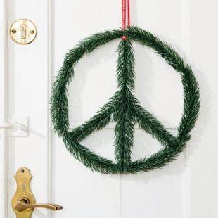 Adorno de Navidad símbolo de la Paz