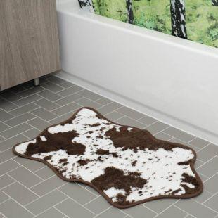 Alfombra de baño piel de vaca