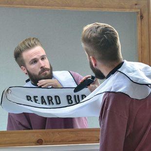 Babero delantal recoge pelos de barba