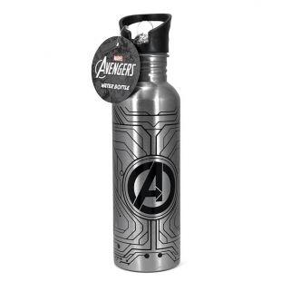 Botella de agua Marvel Avengers, de metal