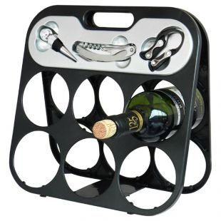 Kit botellero plegable con accesorios