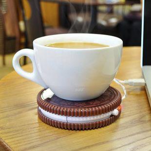 Galleta USB, mantiene caliente el café