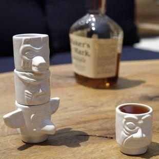 Chupitos Totem, de cerámica (Pack de 4)