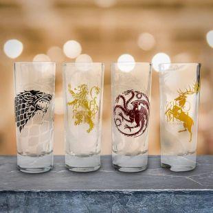 Set 4 Vasos chupito de las casas más famosas de Juego de Tronos