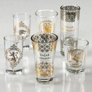 Set 6 Vasos chupito premium de Juego de Tronos