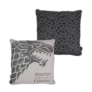 """Cojín cuadrado Stark """"Winter is Coming"""" 46 x 46 cm. Juego de Tronos"""