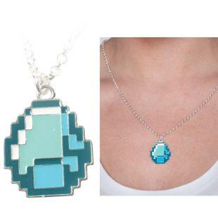 Collar Colgante Minecraft Diamond
