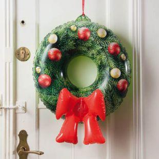 Corona de Navidad inflable de emergencia