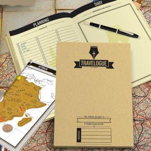 Agenda de viaje, con mapas rasca-rasca