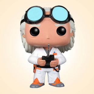 Figura Funko Pop! Dr. Emmett Brown (Doc) de Regreso al Futuro