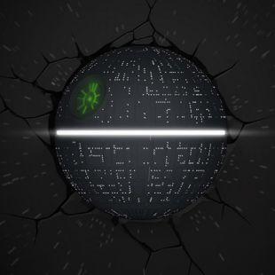 Lámpara ambiental 3D Estrella de la muerte