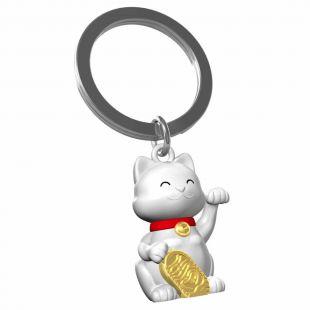 Llavero Premium Maneki-Neko, gatito Kawaii de la suerte