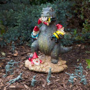 The Massacre Garden: Gnomos de jardín pisoteados por un DInosaurio