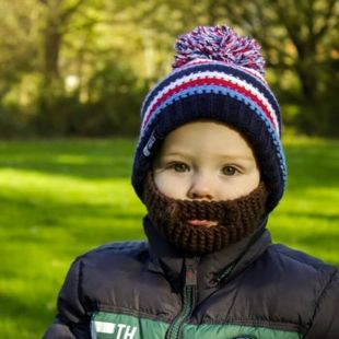 Gorro con barba desmontable Gromm para niños