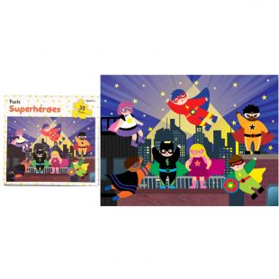 Puzle para niños Superhéroes, 30 piezas 28,5 x 21 cm