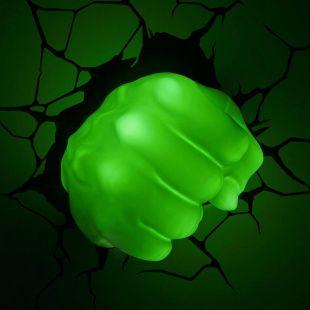 Lámpara de pared Puño de Hulk, de Marvel
