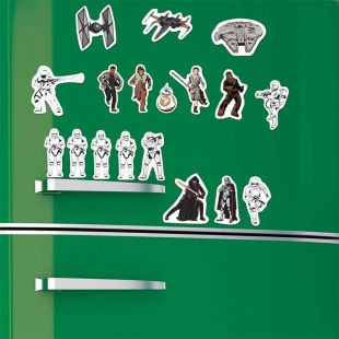 Set 24 Imanes de Batalla Star Wars