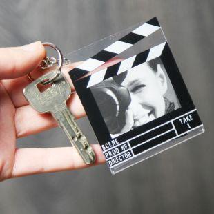 Llavero claqueta de cine portafotos