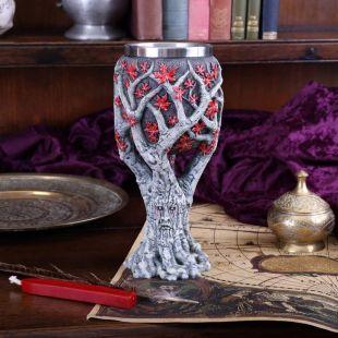 Copa artesanal árbol Weirwood de Juego de Tronos