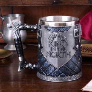 Jarra Deluxe The King in The North de Juego de Tronos pintada a mano