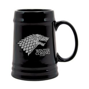 Jarra de cerveza negra Stark Winter is Coming