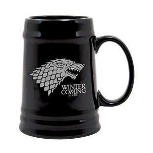 Jarra de cerveza negra Stark Winter is Coming