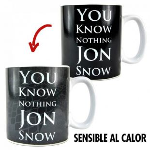 Taza termosensible You Know Nothing Jon Snow, de Juego de Tronos
